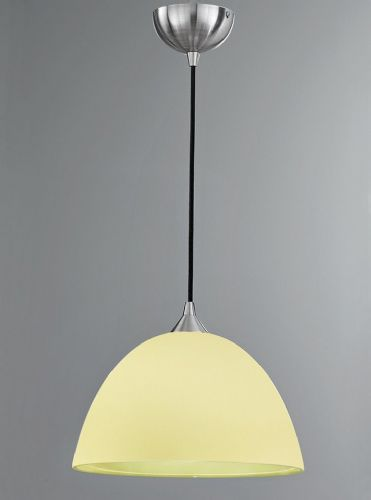 Franklite FL2290/1/941 Satin Nickel & Lime Pendant Light